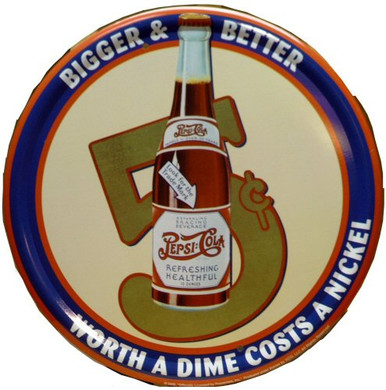 PEPSI  5 CENTS SIGN