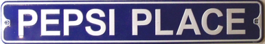PEPSI PLACE SMALL STREET SIGN
