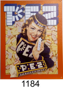PEZ GIRL CANDY SIGN