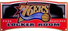 PHILADELPHIA 76ERS BASKETBALL LOCKER ROOM SIGN