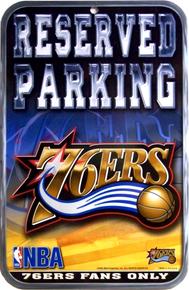 PHILADELPHIA 76ERS BASKETBALL PARKING SIGN