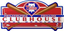 PHILADELPHIA PHILLIES BASEBALL CLUBHOUSE SIGN