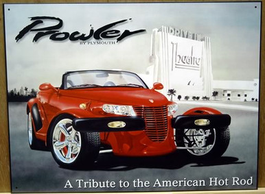 PLYMOUTH PROWLER SIGN