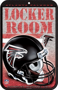 Photo of ATLANTA FALCONS FOOTBALL LOCKER ROOM SIGN