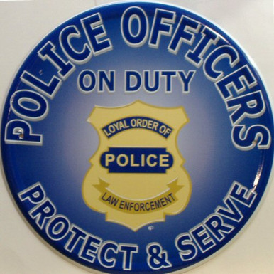 POLICE ON DUTY SIGN