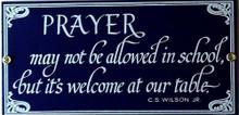 PRAYER PORCELAIN SIGN
