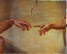 REACH OUT OIL PAINTING