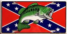 REBEL FISH LICENSE PLATE