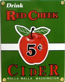 RED CHEEK CIDER PORCELAIN SIGN