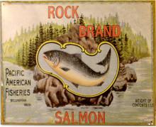 ROCK BOTTOM SALMON RUSTY SIGN