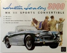 "Photo of AUSTIN HEALEY  ""3000"" SIGN, GREAT COLOR AND GRAPHICS"