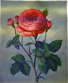 ROSES, PINK OIL PAINTING
