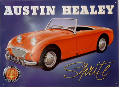 Photo of AUSTIN HEALY  RED SIGN WITH GREAT COLOR AND DETAIL