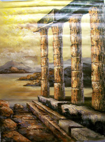 RUINS large OIL PAINTING