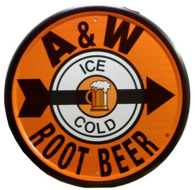 Photo of A & W ROOT BEER SIGN WITH GREAT COLOR AND CRISP GRAPHICS