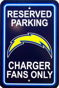 SAN DIEGO CHARGERS FOOTBALL FAN PARKING SIGN