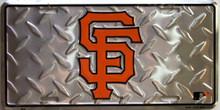 SAN FRANCISCO 49ER FOOTBALL DIAMOND PLATE LICENSE PLATE