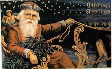 SANTA IN SLEIGH CHRISTMAS SIGN