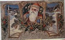 SANTA IN WREATH CHRISTMAS SIGN