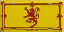 SCOTLAND RAMPANT LION LICENSE PLATE