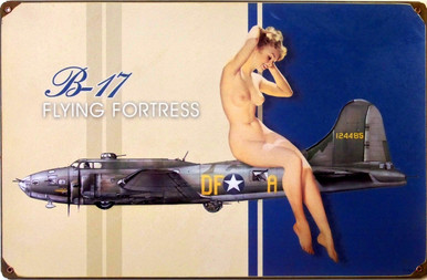 B17 BOMBER NUDE (sublimation process)   HEAVY DUTY METAL SIGN GREAT COLOR AND GRAPHICS
