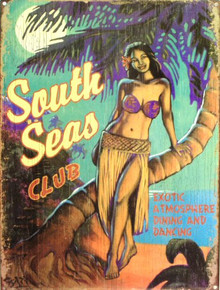 SOUTH SEAS CLUB ENAMEL SIGN