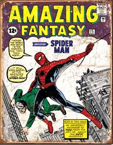 SPIDER MAN COMIC COVER SUPER HERO SIGN