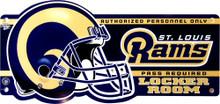 ST. LOUIS RAMS FOOTBALL LOCKER ROOM OLD STYLE SIGN