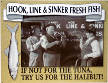 STOOGES - FRESH FISH SIGN