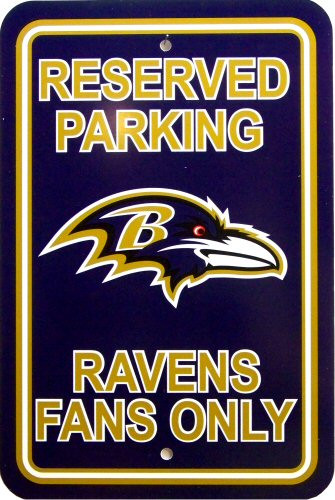 Photo of BALTIMORE RAVENS FOOTBALL FAN PARKING SIGN HAS GREAT COLOR AND GRAPHICS