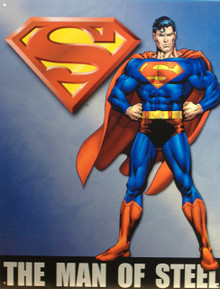 SUPERMAN MAN OF STEEL SUPER HERO SIGN