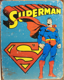 SUPERMAN RETRO SUPER HERO SIGN