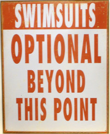 SWIMSUITS OPTIONAL SIGN