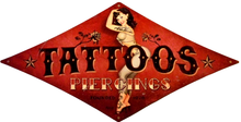 TATTOOS DIAMOND SHAPPED  sublimation process Sign