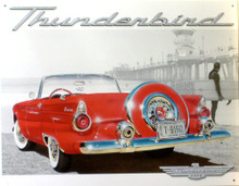 T'BIRD, FORD AT BEACH SIGN