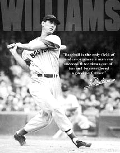 TED WILLIAMS BASEBALL SIGN