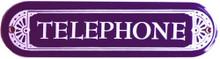 TELEPHONE PORCELAIN SIGN