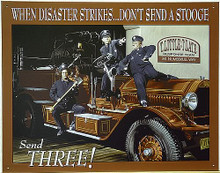 THREE STOOGES FIRETRUCK SIGN