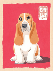 Photo of BASSET HOUND DOG ENAMEL SIGN GREAT COLOR AND GRAPHICS