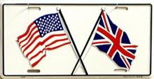 US & BRITISH LICENSE PLATE