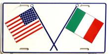 US & ITALIAN LICENSE PLATE