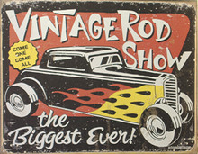 VINTAGE RODS RACING SIGN