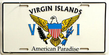 VIRGIN ISLANDS LICENSE PLATE