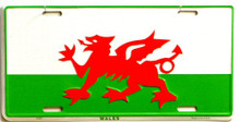 WALES LICENSE PLATE