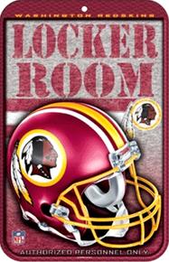 WASHINGTON REDSKINS FOOTBALL LOCKER ROOM SIGN