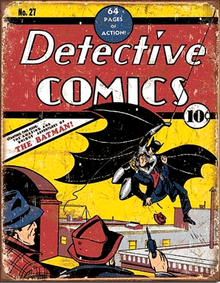 Photo of BATMAN DECTIVE COMIC COVER, THE FIRST APPEARANCE OF BATMAN IN COMICS!!