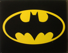BATMAN LOGO SIGN, THE BAT SIGNAL ON METAL, SUPER GRAPHIC