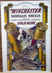 Photo of WINCHESTER  DOG & QUAIL HUNTING POSTER SIGN