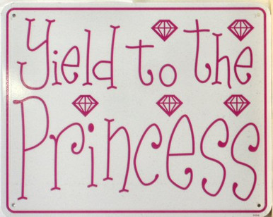 """METAL Sign Size: 8"""" w X 10"""" h, WITH HOLES FOR EASY MOUNTING THIS CUTE SIGN IS PERFECT FOR THE PRINCESS IN YOUR LIFE"""