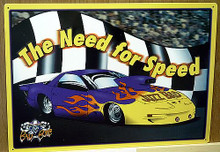 "METAL SIGN MEASURING 16"" W X 12"" H,  GREAT COLORS AND GRAPHICS, A SUPER ADDITION FOR ANY NHRAFAN"